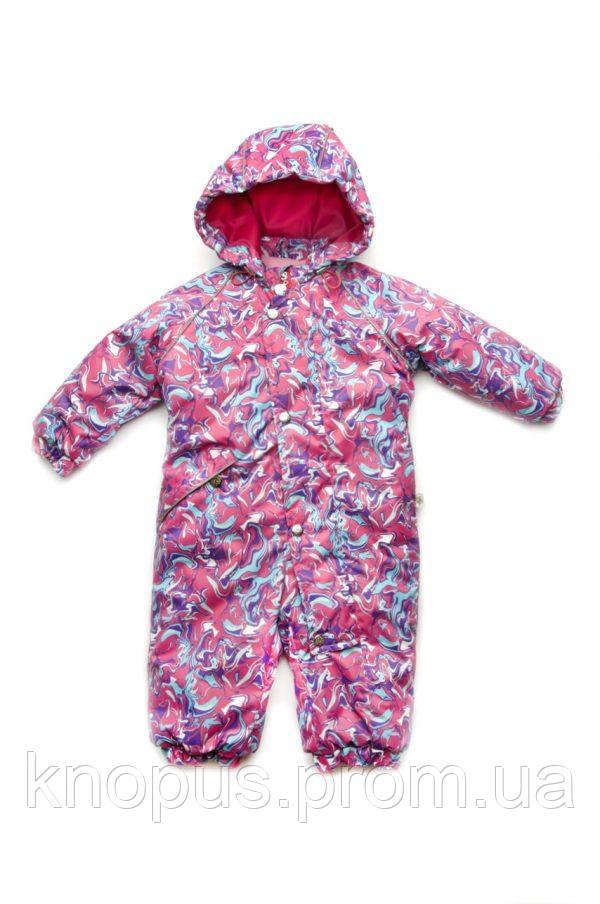 Детский зимний комбинезон для девочки, Модный карапуз, Размеры 80-92
