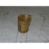Бокал деревянный светлый 0,5 л