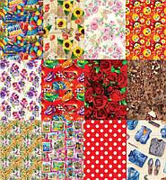 Бумага для упаковки подарков эд в листах (707x1000мм) (Рулон 25шт mix 5видов), фото 1