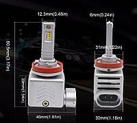 Комплект светодиодных ламп LED 9S, 40W, H8 / H9 / H11, 12000 Lm, 9-18 V, фото 1