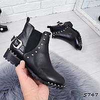 Ботинки женские Fisly черные 5747, ботинки женские, фото 1