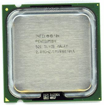 Процессор Intel Pentium 4 521, 2.8 GHZ/1M/800