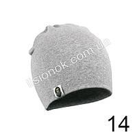 Серая трикотажная однотонная шапка Bape для подростков и взрослых 54-62см