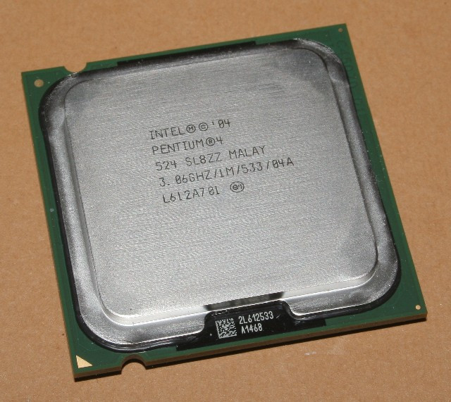 Процессор Intel Pentium 4 524, 3.06 GHZ/1M/533
