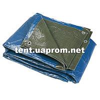 Тент Тарпаулин 150г/м2 уплотненный 2*3 хаки / синий, фото 1