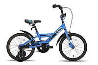 """Велосипед 16"""" PRIDE FLASH сине-черный глянцевый 2015"""