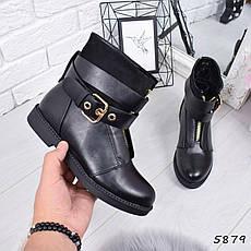 """Ботинки, ботильоны черные ЗИМА """"Benedict"""" эко кожа, повседневная, зимняя, теплая, женская обувь, фото 2"""