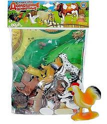 Домашние животные резиновые 0256 с игровым полем
