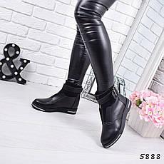 """Ботинки, ботильоны черные ЗИМА """"Barkly"""" эко кожа, повседневная, зимняя, теплая, женская обувь, фото 2"""