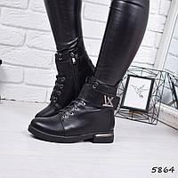 Ботинки женские LV черные 5864 ЗИМА