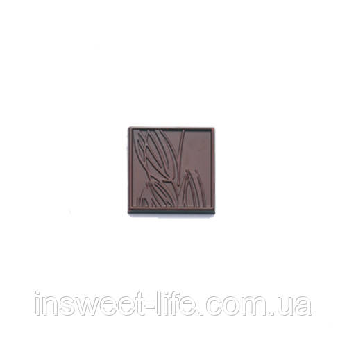 """Поликарбонатная форма """"Дегустационная шоколадка 5 гр с цветком"""""""
