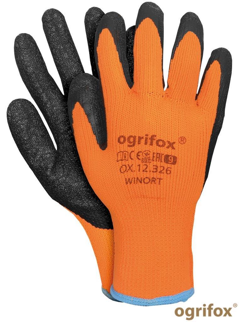 Перчатки рабочие утепленные прорезиненные Ogrifox OX-WINORT PB