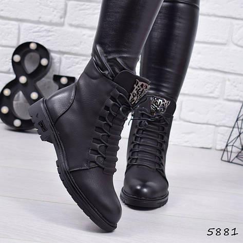 """Ботинки, ботильоны черные демисезонные """"Tigra"""" эко кожа, повседневная,осенняя, женская обувь, фото 2"""