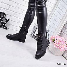 """Ботинки, ботильоны черные демисезонные """"Tigra"""" эко кожа, повседневная,осенняя, женская обувь, фото 3"""
