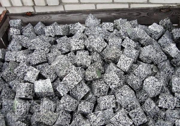 Брусчатка гранитная Покостовского месторождения 7*7*7, фото 1