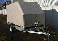 Прицеп для перевозки снегохода с каркасом, фото 1