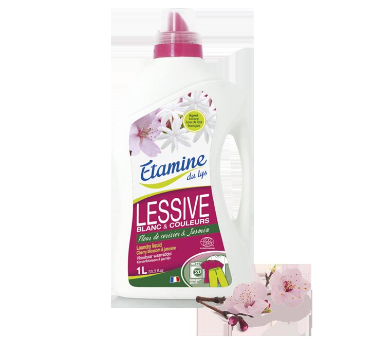 """Рідкий пральний порошок """"Квітка вишні і жасмин"""" органічний Etamine du Lys,1л"""