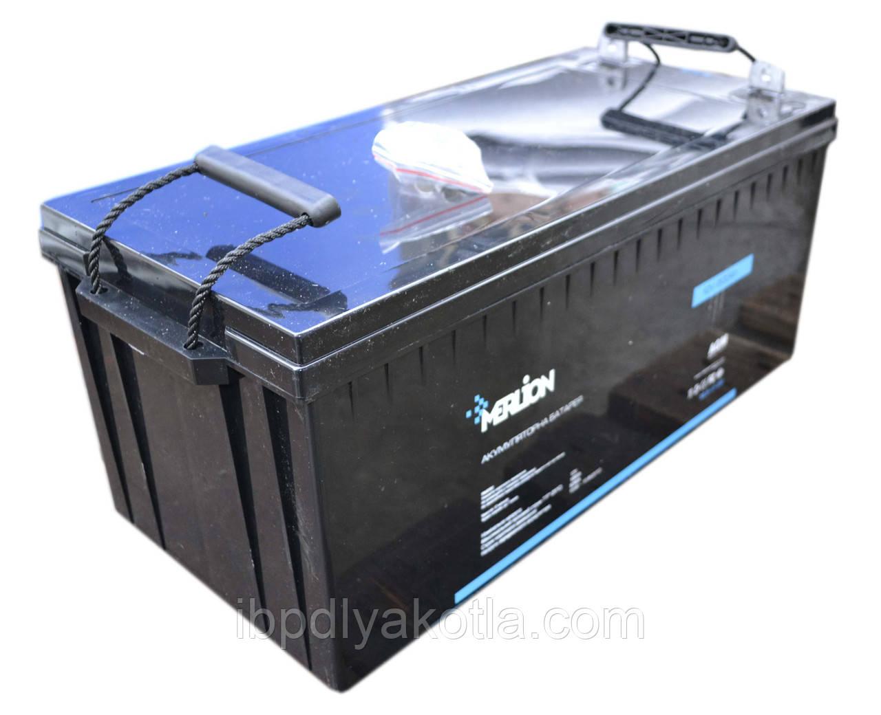 Акумулятор мультигелевый MERLION MLB-12-200 12V 200AH, (AGM) для ДБЖ