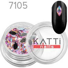 KATTi Стразы в банке акрил фигурные 7105 horse-eye 3x6mm Light Pink AB 50шт