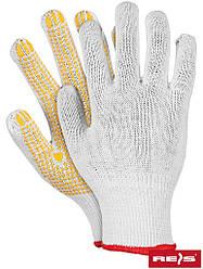 Перчатки защитные х/б с односторонним покритием ПВХ RDZN WY
