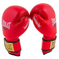 Боксерские кожаные перчатки Ever American STAR (8oz, красный)