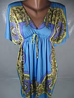 Летнее женское платье-туника, размер S/M , арт. M-3856 В