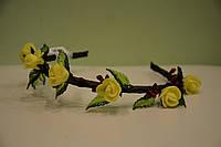 """Обруч """"жёлтые розы"""""""