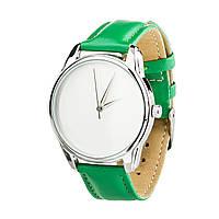 """Часы """"Минимализм"""" (ремешок изумрудно - зеленый, серебро) + дополнительный ремешок, фото 1"""