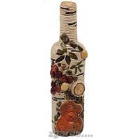 Бутылка деревянная декорирована под березу