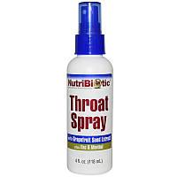 NutriBiotic, Throat Spray, спрей для горла 118 мл