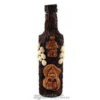 Бутылка деревянная покрыта керамикой