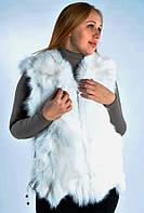 Женский  жилет из песца меховой белый., фото 1