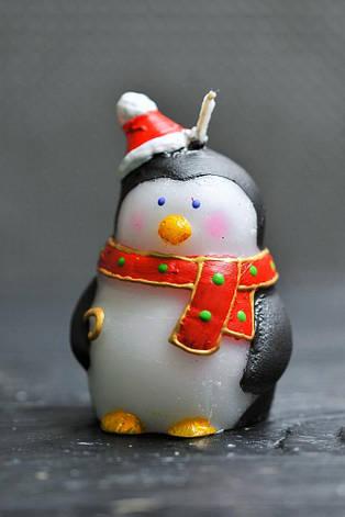 Новогодняя декоративная свеча 5шт/уп - Пингвин, фото 2