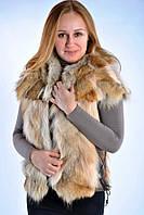 Женский  жилет из натурального меха койота., фото 1