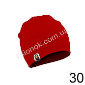Трикотажна однотонна дитяча шапка Bape 44-54см Червона