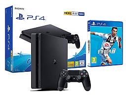 Игровая приставка Sony PlayStation 4 Slim 500Gb + игра Fifa 19