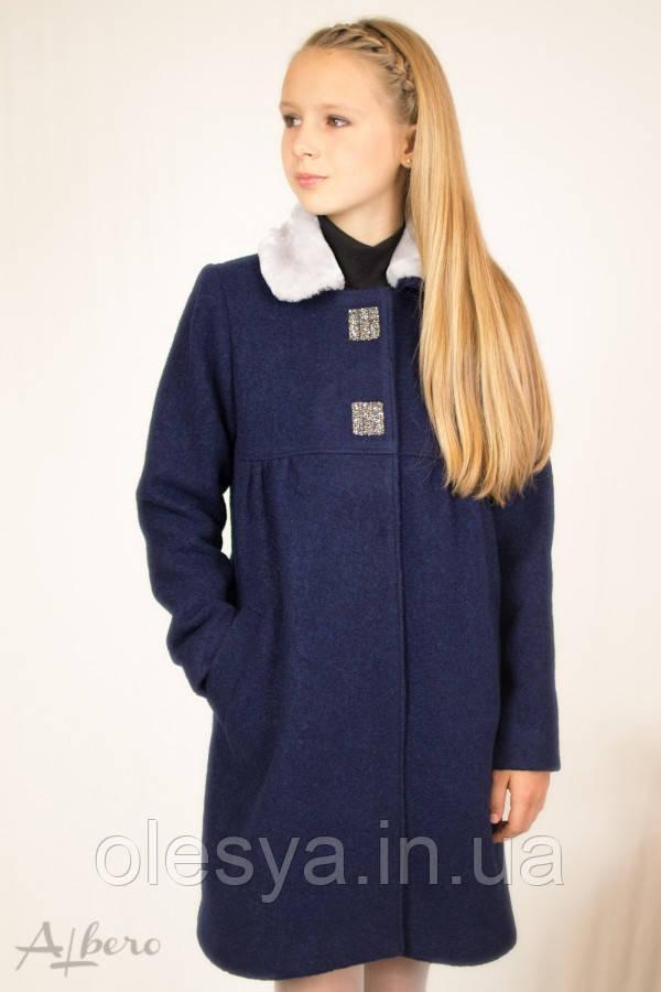 Пальто шерстяное демисезонное для девочек ТМ Albero (Альберо) Размеры 122- 146