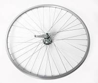 """Колесо велосипеда  24"""" заднее (без резины), одинарный алюм.обод 36 отв, торм. втулка сталь, гайка"""