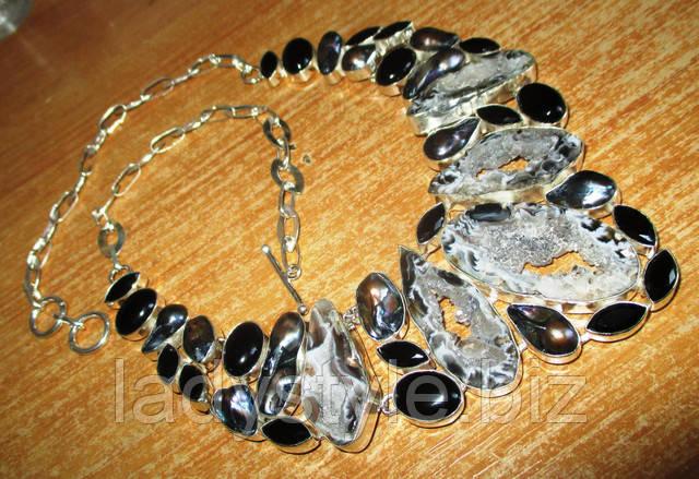 украшения из натурального агата браслет купить серебро леди стиль