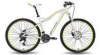 "Велосипед 27,5"" PRIDE XC-650 MD W рама - 18"" бело-зеленый матовый 2015"