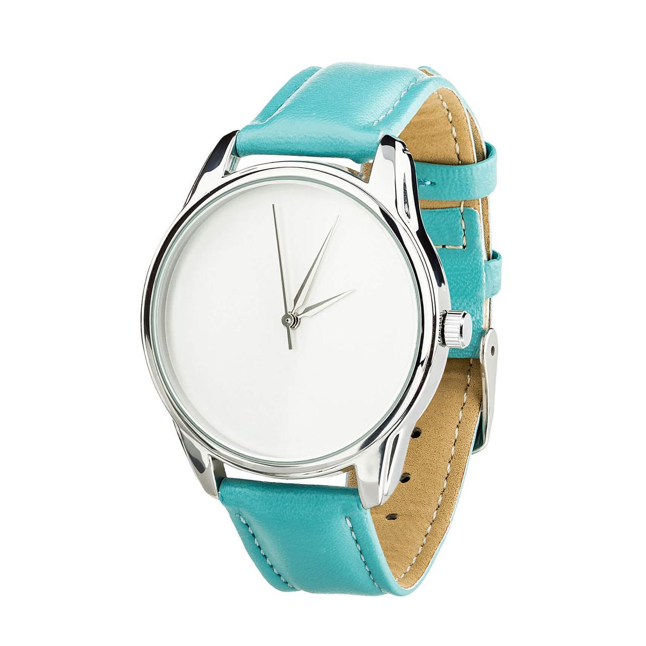 """Часы """"Минимализм"""" (ремешок небесно - голубой, серебро) + дополнительный ремешок"""