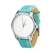 """Часы """"Минимализм"""" (ремешок небесно - голубой, серебро) + дополнительный ремешок, фото 1"""