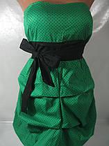 Нарядное женское платье в горох, размер S. арт. 0162/2070