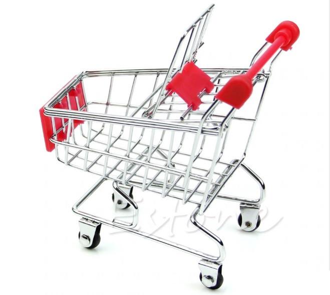 Мини Тележка покупательская, муляж, макет тележка супермаркетовская маленькая для визиток, чеков