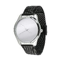 """Часы """"Минимализм"""" (ремешок из нержавеющей стали черный) + дополнительный ремешок, фото 1"""