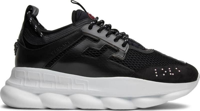 Мужские кроссовки Versace Chain Reaction 2 Chainz (Версачи) черно-белые