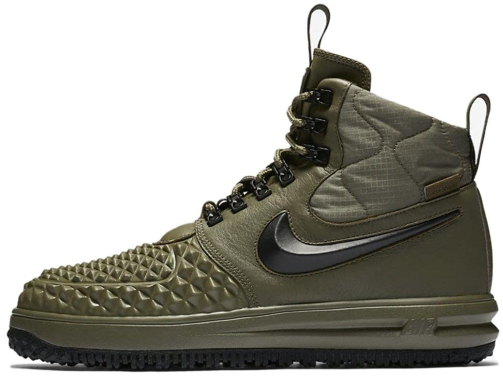 Мужские кроссовки Nike Lunar Force 1 Duckboot '17 (Найк Лунар Форс) зеленые