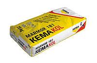 Клей эластичный белый для плитки, камня, мрамора, толстослойный 3-10 мм KEMAkol Marmor 181 (25кг), фото 1