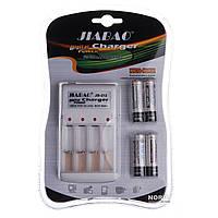 Зарядное устройство Jiabao + батарейки пальчик (212АА)