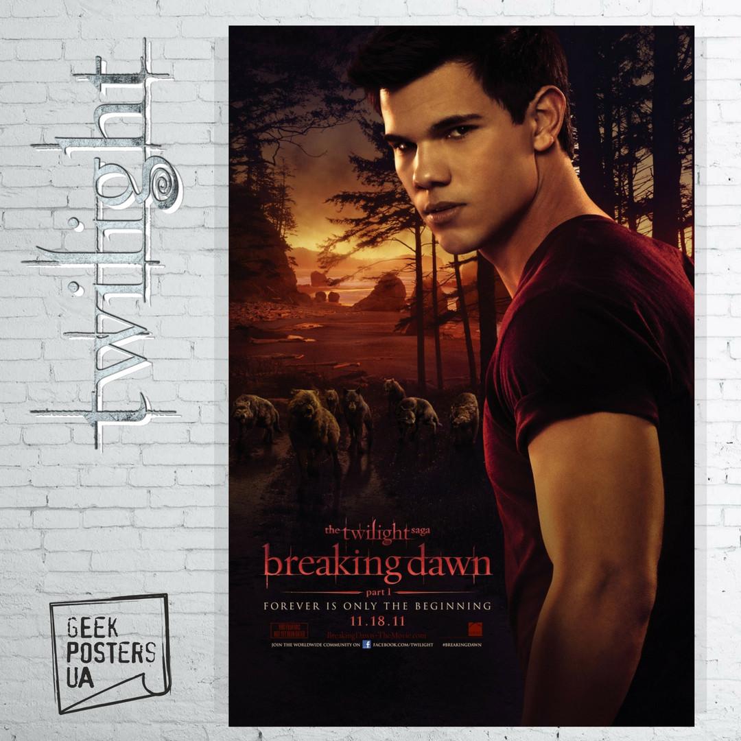 Постер Джейкоб Блэк, The Twilight, Сумерки, Вампирская сага. Размер 60x41см (A2). Глянцевая бумага